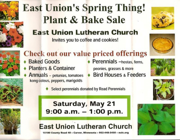 2011 East Union Plant and Bake Sale