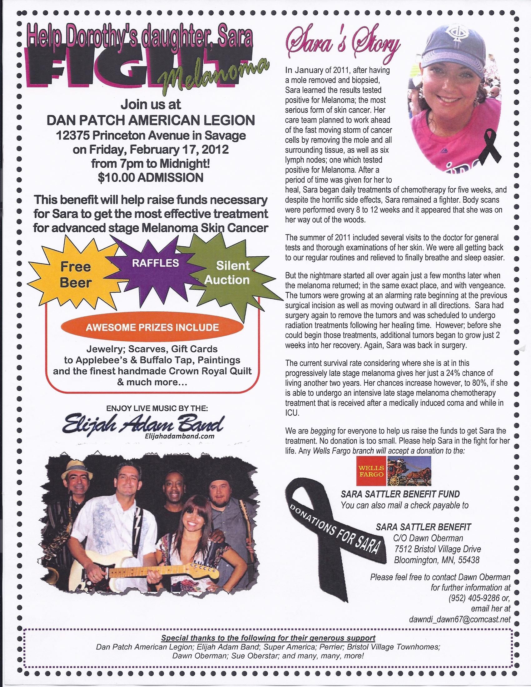Help Dorothy's Daughter Sara Fight Lemanoma