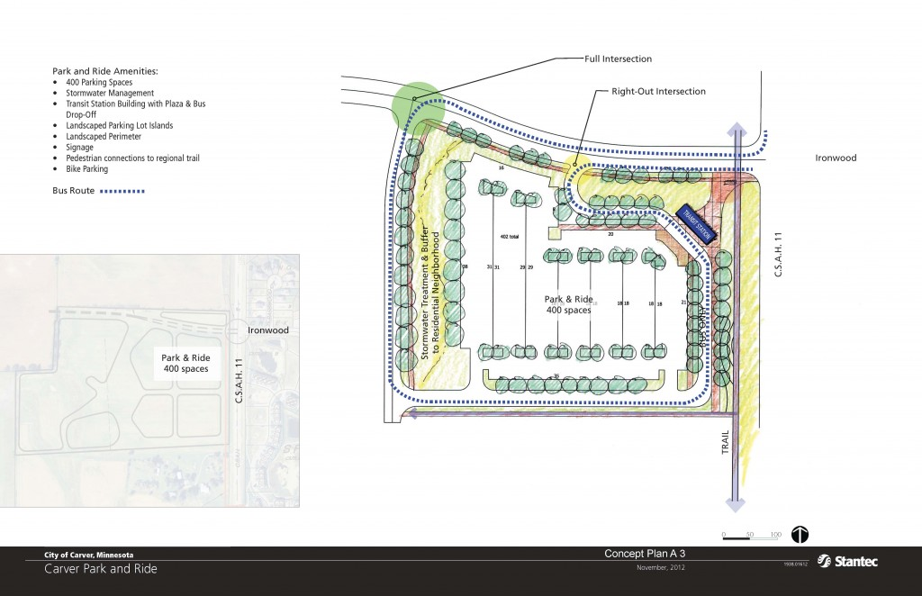 Concept Plan -  Carver Park and Ride Station