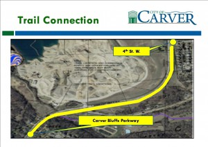 Proposed Trail along Jonathan Carver Parkway / CR 11